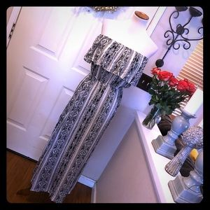 Beautiful love...ady Ruffle Top Maxi Dress